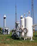 Industrie de gaz et pétrolière Images stock