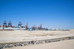 Industrie in de haven van Rotterdam Stock Afbeeldingen