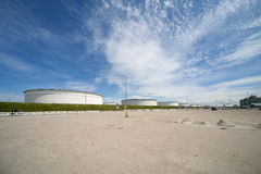 Industrie in de haven van Rotterdam Stock Afbeelding