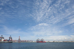 Industrie in de haven van Rotterdam Royalty-vrije Stock Foto's