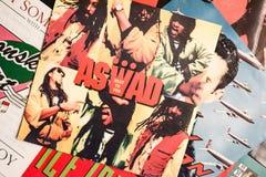 Industrie de la musique de retour pendant les années 1990 45 disques simples de t/mn image libre de droits