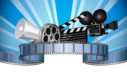 Industrie de media de cinéma, de film, de film et de vidéo Photographie stock libre de droits