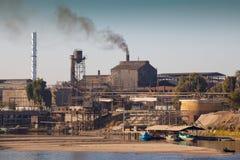 Industrie de pollution image libre de droits