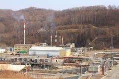 Industrie de transformation de pétrole. Photos libres de droits