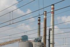 Industrie de trois cheminées Photo stock