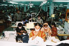 Industrie de vêtements au Bangladesh photo libre de droits