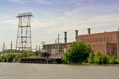 Industrie del fiume di Hudson Immagini Stock Libere da Diritti