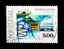 Industrie della pesca, ciclo del serie delle risorse naturali, circa 1978 Immagine Stock Libera da Diritti