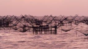 Industrie della pesca dell'estuario fotografie stock