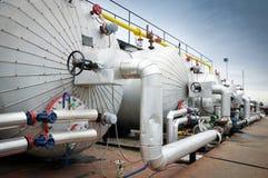 Industrie della raffinazione e del gas del petrolio, Fotografie Stock Libere da Diritti