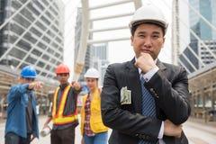 Industrie du bâtiment avec le concept de corruption Image libre de droits
