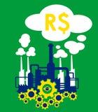 Industrie du Brésil illustration de vecteur