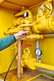 Industrie du gaz images stock