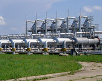 Industrie du gaz Image stock