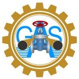 Industrie du gaz d'icône Image libre de droits