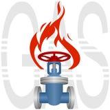 Industrie du gaz d'icône Photos stock