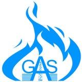 Industrie du gaz d'icône Photos libres de droits