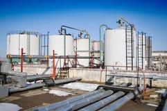 Industrie du gaz de l'hiver Photographie stock