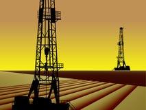 Industrie du gaz de pétrole Image stock