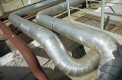 Industrie du gaz. gaz-transfert Image stock