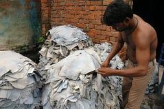 Industrie en cuir de Kolkata photographie stock libre de droits