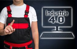 Industrie in german industry 4.0 and craftsman concept.  stock photography