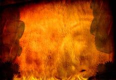 Industrie grunge mit Feuer Stockfoto