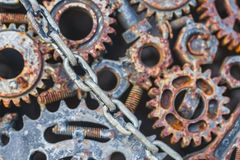 Industrie grunge sale de vitesse rouillée en métal Images libres de droits