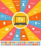 IT-Industrie Infographic-Elemente Lizenzfreie Stockbilder