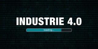 Industrie 4.0 loading. German text - translation: industry 4.0 loading stock illustration