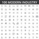 Industrie, logistiek, installatie, pakhuis, fabriek, techniek, bouw, distributie, vervaardiging, zware industrieel royalty-vrije illustratie