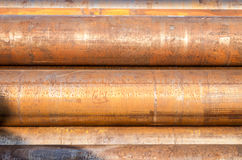 Industrie lourde de rouille de tuyaux d'acier Photos libres de droits