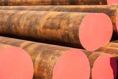 Industrie lourde de rouille de tuyaux d'acier Photo libre de droits
