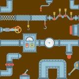 Industrie mécanique d'équipement de vitesse de conception de détail de travail de fabrication de vecteur différent de mécanisme d illustration libre de droits