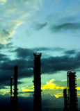 Industrie-Nacht Lizenzfreies Stockfoto