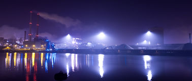 Industrie nachts Lizenzfreies Stockbild