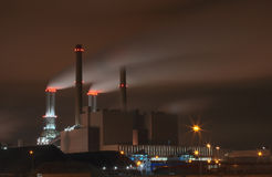 Industrie at night. Industry at night in a harbor royalty free stock images
