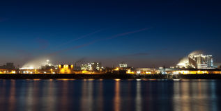 Industrie by night Royalty Free Stock Photo
