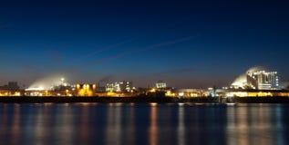 Industrie nocą Zdjęcie Royalty Free