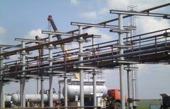 Industrie pétrolière photo libre de droits