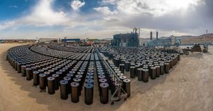 Industrie pétrolière locale en Iran Images libres de droits