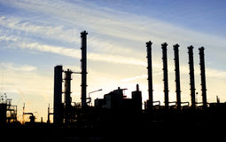 Industrie Picture on sunset Stock Images
