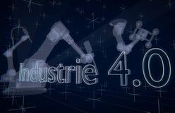 Industrie 4 (0) przemysłów 4 Obraz Stock