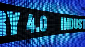 Industrie 4 0 Seitenwand-Anzeigetafel-Zeichen-Brett des text-Blättern-LED stock abbildung