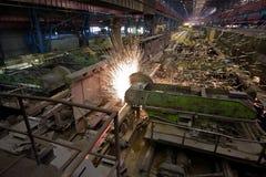 Industrie siderurgiche Fotografie Stock Libere da Diritti