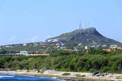 Industrie sur la montagne du Curaçao image libre de droits