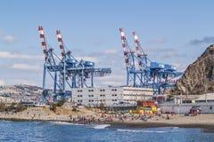 Industrie und Strand Stockbilder