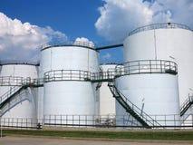 Industrie van gasraffinage, Olie en gas de industrie. Stock Afbeeldingen