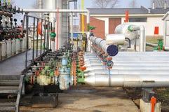 Industrie van olieraffinage en gas royalty-vrije stock fotografie