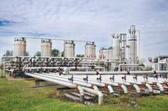 Industrie van olieraffinage en gas Stock Afbeelding